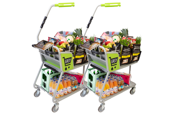 Sensores de pesaje Zemic integrados en los carros de la compra de Easy Shopper