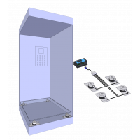 Elevator weighing kit: Cabin