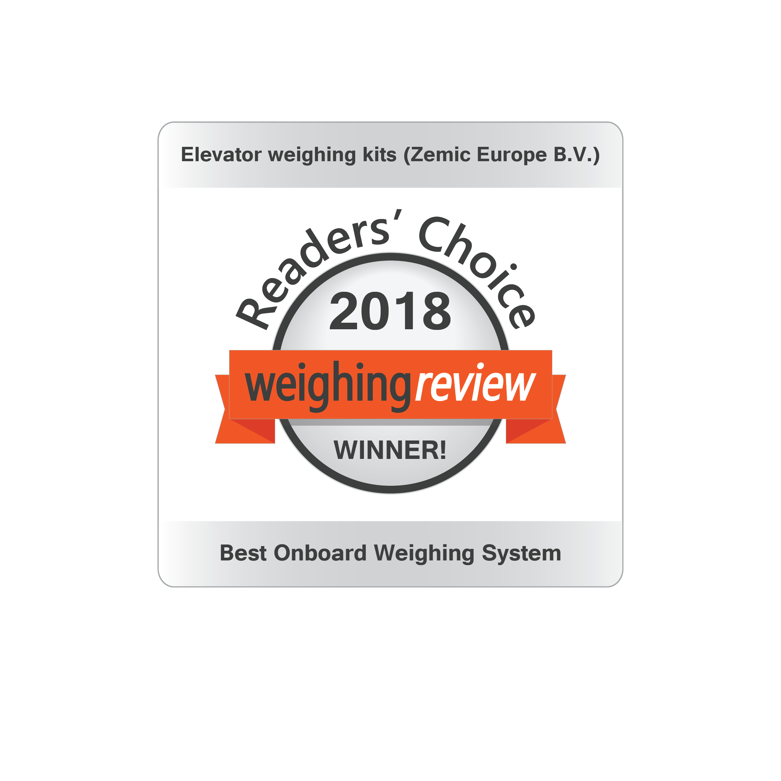 Weighing Review Awards Winner 2018