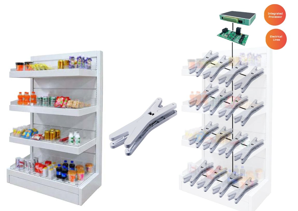 Intelligent shelve supermarket: Cross