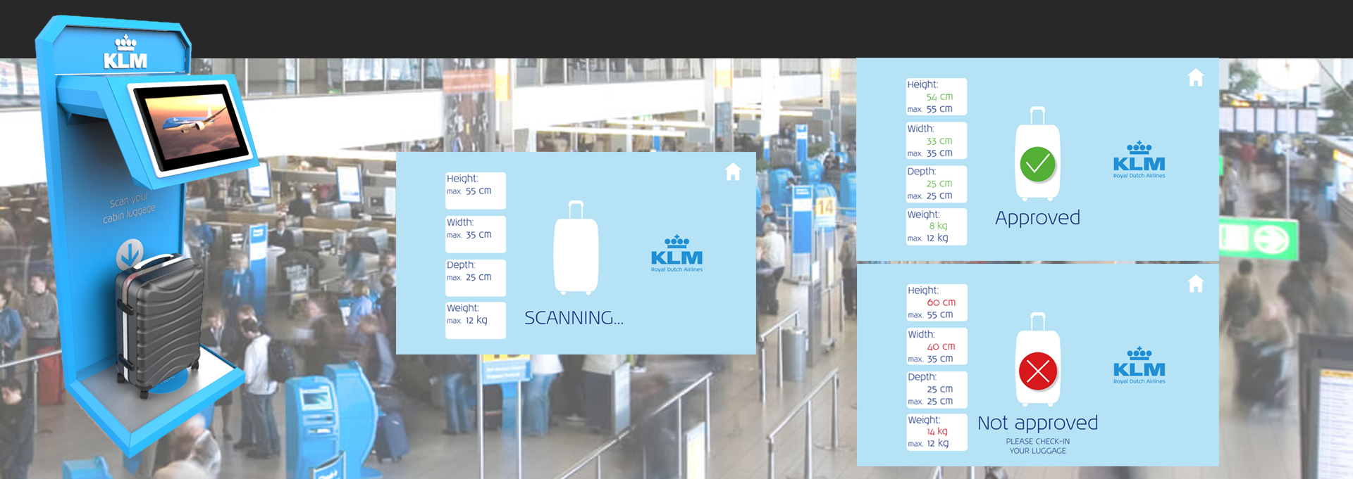 KLM Suitcase Checker
