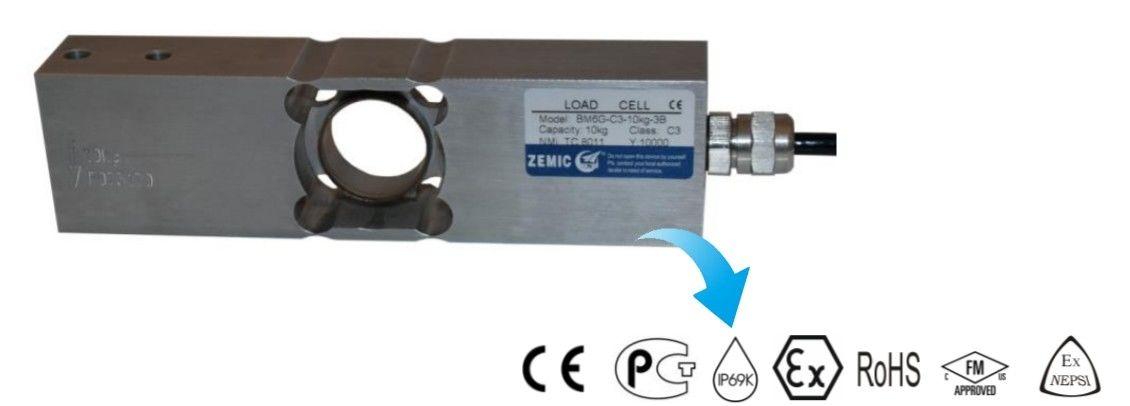 ip69K loadcell marking