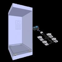 Elevator weighing kit: Cabin